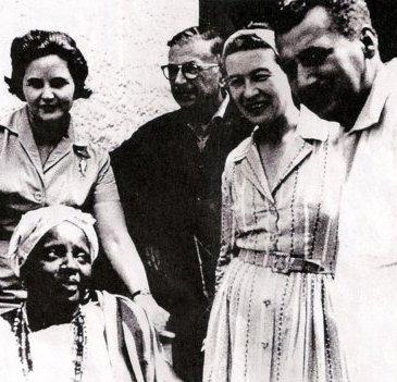 Simone de Beauvoir, Jean-Paul Sartre, Zélia Gattai e Jorge Amado